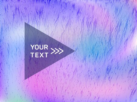 Minimal banner fluid holographic gradient vector design. Abstract graphic design elements. Beautiful fluid neon holographic background for banner.