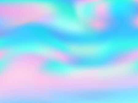 Blurred hologram texture gradient wallpaper. Futuristic iridescent mermaid background. Liquid colors explosion background. glowing hologram neon glitch texture vector backdrop.