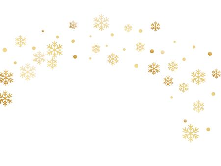 Crystal snowflake and circle shapes vector backdrop. Minimal winter snow confetti scatter banner background. Flying gradient snow flakes background, awesome water crystals vector.