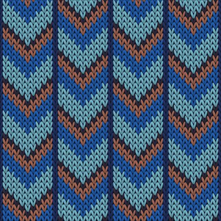 Fashionable downward arrow lines knitting texture geometric seamless pattern. Ugly sweater stockinet ornament. Fashionable seamless knitted pattern. Cozy textile print design.