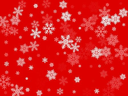 Snow flakes falling macro vector design, christmas snowflakes confetti falling chaotic scatter card. Winter xmas snow background. Motion flakes falling and flying winter cold weather vector.