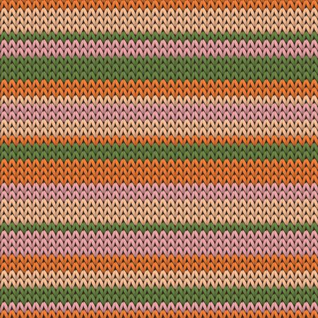 Cool horizontal stripes christmas knit geometric seamless pattern. Blanket hosiery textile print. Fashionable seamless knitted pattern. Abstract xmas wallpaper. Stock Illustratie