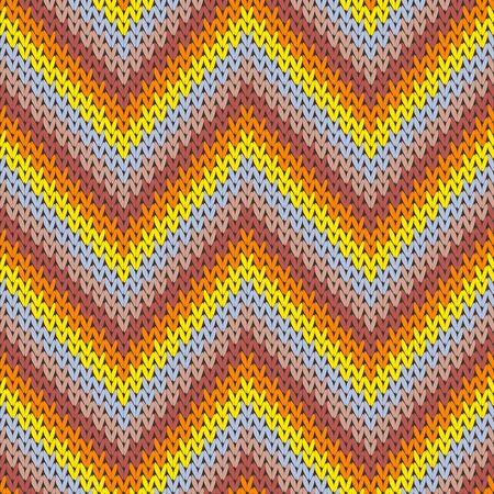 Cool zigzag chevron stripes christmas knit geometric seamless pattern. Ugly sweater knitwear fabric print. Fashionable seamless knitted pattern. Cozy textile print design.