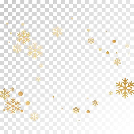 Crystal snowflake and circle shapes vector backdrop. Minimal winter snow confetti scatter poster background. Flying gradient snow flakes background, awesome water crystals vector. Çizim