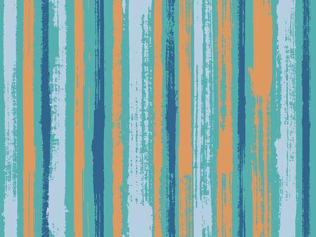 Watercolor strips seamless vector background. Decorative bright plaid ornament swatch. Parellel gouache vertical lines seamless backdrop. Striped tablecloth textile print. Ilustração