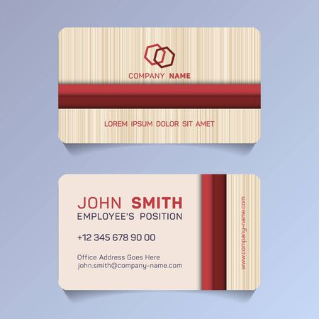 Horizontal business card papercut idea vector templates set. Personal business card graphic design with place for logo, employees name, position, mobile number, website and company office address.