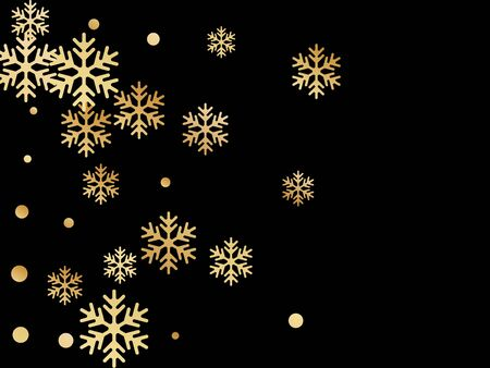 Winter snowflakes and circles border vector illustration. Unusual gradient snow flakes isolated card background. New Year 2019 card border pattern template with trendy snowflake shapes isolated.