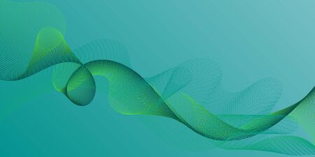 Wave line ribbon advanced background. Technological optical fiber concept vector. Modern curl lines ripple texture design. Overlapping curves card backdrop simple design.