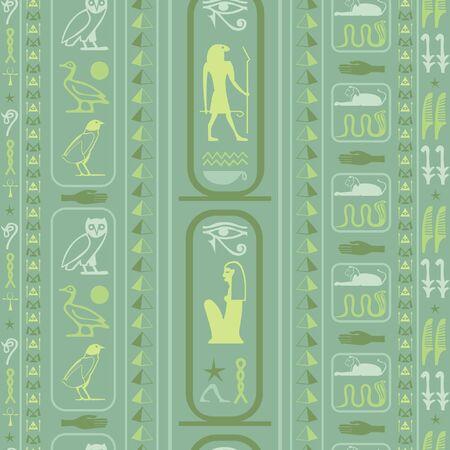 Egipto creativo escribiendo fondo transparente. Textura de símbolos de idioma egipcio jeroglífico. Repetición de antecedentes de moda étnica para la decoración de interiores.