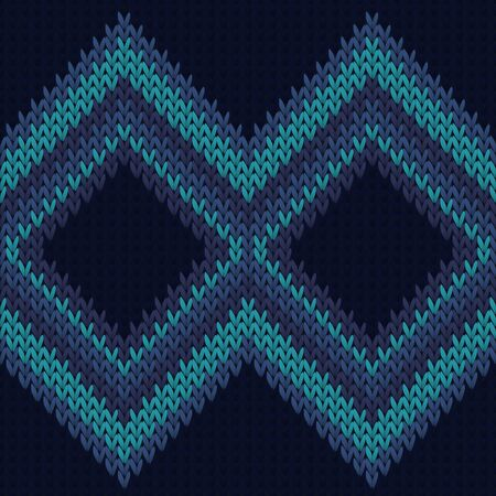 Chunky rhombus argyle knit texture geometric seamless pattern. Scarf knit tricot  fabric print. Winter seamless knitted pattern. Abstract xmas wallpaper.