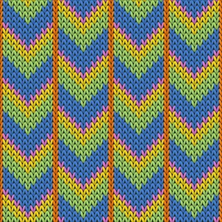 Macro downward arrow lines knit texture geometric seamless pattern. Rug knit effect ornament. Fashionable seamless knitted pattern. Fabric canvas illustration.