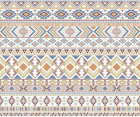 Rhombus and triangle symbols tribal ethnic motifs geometric vector background. Beautiful gypsy tribal motifs clothing fabric textile print traditional design with triangles