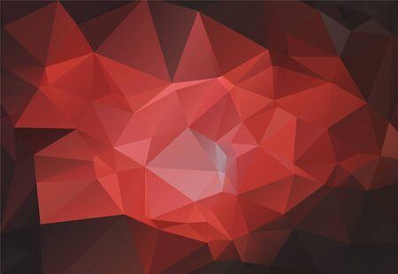 Lage poly hedendaagse driehoek elementen geometrische achtergrond. Driehoekige polygonen mozaïekstructuur. Gradiënt textuur laag poly driehoeken presentatie achtergrondpatroon. Vector Illustratie
