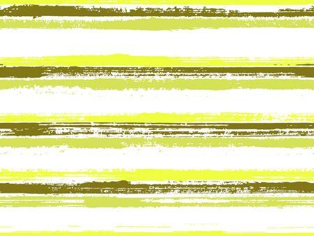 Strisce di vernice disegnate a mano tessuto stampa vettore senza soluzione di continuità. Ornamento cool hipster. Design con stampa in tessuto vintage a strisce dipinte a mano. Modello di linee di carta da imballaggio. Linee di colore su sfondo bianco. Vettoriali