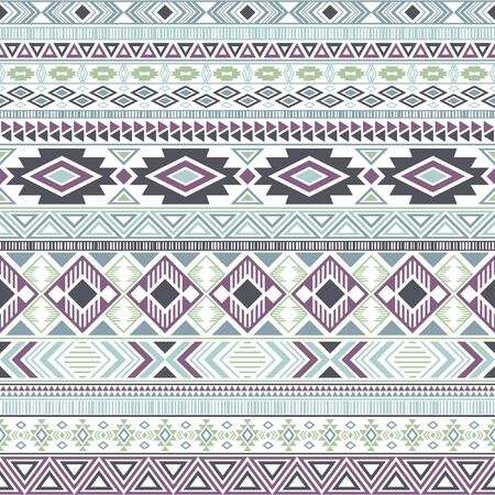 Mexican american indian pattern tribal ethnic motifs geometric vector background. Vintage native american tribal motifs textile print ethnic traditional design. Aztec symbol fabric print. Çizim