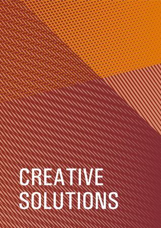 Brochure cover page layout geometric vector design. Flat style booklet concept. Cover template with logo place. Flyer mix digital background blend. Advertising commercial magazine. Ilustrace