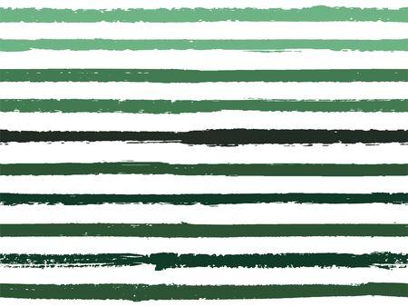 Dibujado a mano a rayas de fondo vintage de patrones sin fisuras para envolver. Vector de acuarela de líneas de rayas pintadas. Fondo de textiles de lino de textura de moda moderna. Cool patrón de rayas sin costuras.
