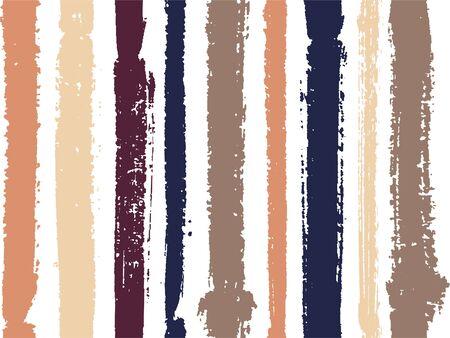 Rayures verticales de peinture épaisse et fine ou lignes d'encre modélisme vectorielle continue. Motif vertical de rayures de trait de pinceau pour le tissu textile de vêtements. Dessin au trait aquarelle cool rayé grunge.