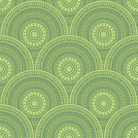 Mexican fish scale wallpaper design vector seamless pattern. Oriental motifs modern line art geometry. Native indian ethnic mandala shapes seamless geometric motifs pattern.
