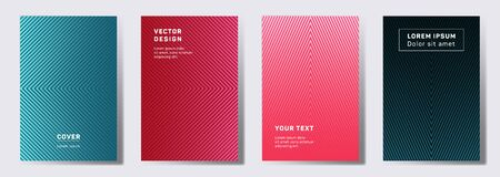 Tech covers linear design. Geometric lines patterns with edges, angles. Geometric poster, flyer, banner vector backgrounds. Line shapes patterns, header elements. Annual report covers.