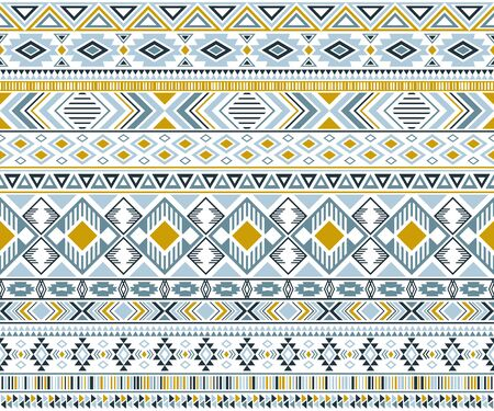 Rhombus and triangle symbols tribal ethnic motifs geometric vector background. Cute gypsy geometric shapes sprites tribal motifs clothing fabric textile print traditional design with triangles