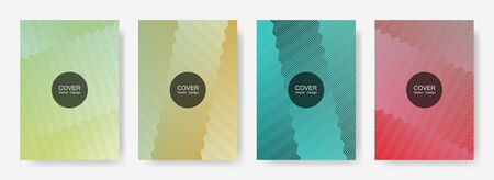 Gradient zig zag stripes texture vector backgrounds for   cover layouts. Digital zig zag gradient line stripes composition. Advertising placard pages.