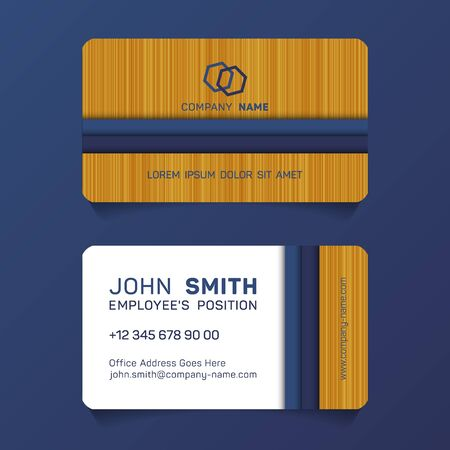 Geometric business card papercut idea vector templates set. Cool business card graphic design with place for  company name, employees position, phone number, website and office address.