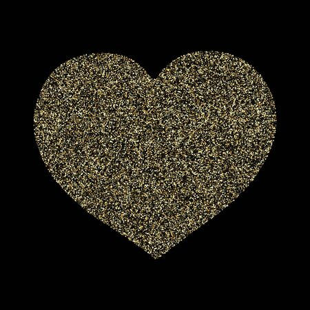 Gold sparkles glitter dust metallic confetti vector background. Modern golden sparkling background. Gold stardust texture tinsel confetti party vector. Fashion glitter festive sparkles design Çizim