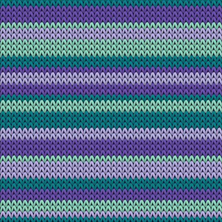 Vintage horizontal stripes knit texture geometric vector seamless. Plaid hosiery textile print. Classic warm seamless knitted pattern. Fabric canvas illustration.