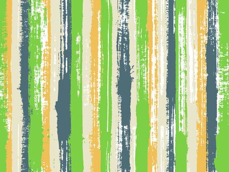 Watercolor strips seamless vector background. Contemporary art graffiti drawing swatch. Hatch ink lines fabric seamless pattern print. Striped tablecloth textile print.