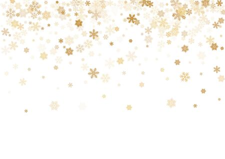 Winter snowflakes border card vector background.  Macro snowflakes flying border design, holiday banner with flakes confetti scatter frame, snow elements. Cold season winter symbols. 일러스트