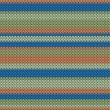 Trendy horizontal stripes knitted texture geometric seamless pattern. Blanket knitwear fabric print. Nordic style seamless knitted pattern. Abstract xmas wallpaper.