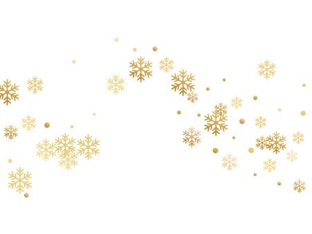 Crystal snowflake and circle shapes vector illustration. Unusual winter snow confetti scatter card background. Flying colorful gradient snow flakes background, trendy water crystals vector.