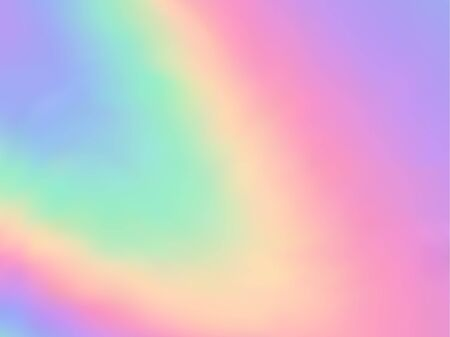 Hologram effect glitch gradient vector design. Futuristic pastel rainbow unicorn background. Liquid colors explosion background. Opalescence neon glitch effect hologram gradient wallpaper.