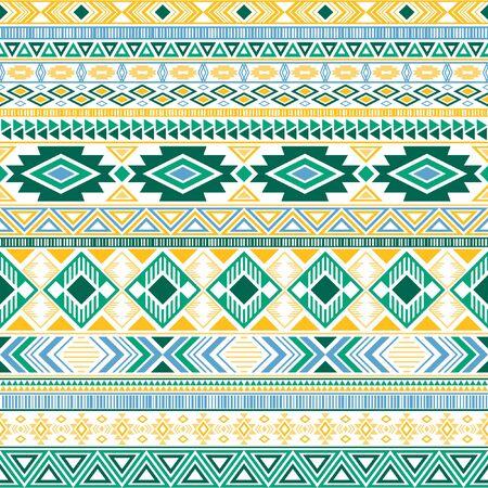 Aztec american indian pattern tribal ethnic motifs geometric seamless background. Doodle native american tribal motifs clothing fabric ethnic traditional design. Mexican folk fashion.