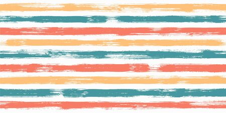 Stylish watercolor brush stripes seamless pattern. and paintbrush lines horizontal seamless texture for background. Hand drown paint strokes decoration artwork. For garment.