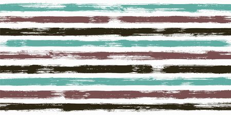 Stylish watercolor brush stripes seamless pattern. and paintbrush lines horizontal seamless texture for background. Hand drown paint strokes graffiti artwork. For textile.
