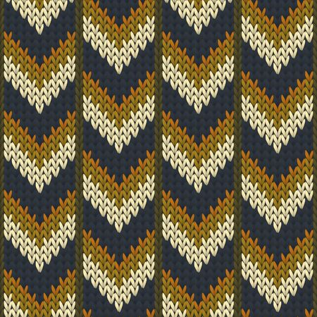 Soft downward arrow lines knit texture geometric seamless pattern. Ugly sweater stockinet ornament. Fashionable seamless knitted pattern. Cozy textile print design. Ilustrace