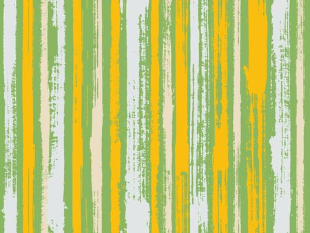 Watercolor strips seamless vector background. Grungy ink doodles simple endless texture. Old style material graphic background. Striped tablecloth textile print.