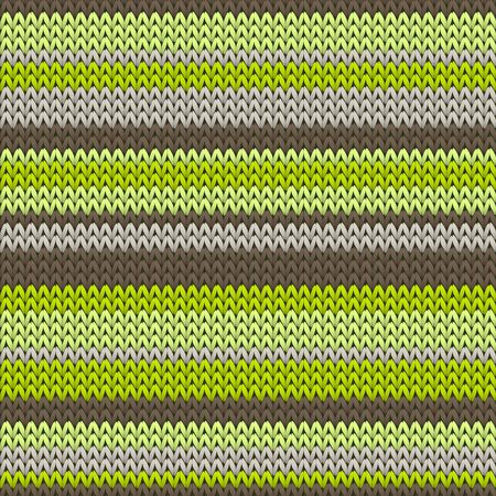 Chunky horizontal stripes knitting texture geometric seamless pattern. Rug knit effect ornament. Traditional seamless knitted pattern. Christmas spirit backdrop. Ilustrace