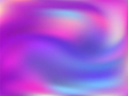 Hologram effect glitch gradient vector design. Digital blue purple ultraviolet background. Hologram colors liquid background. glowing neon glitch effect hologram gradient wallpaper.