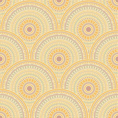 Mexican geometric shapes tile design vector seamless pattern. Folk motifs retro repeating illustration. Native indian ethnic mandala shapes seamless geometric motifs pattern.