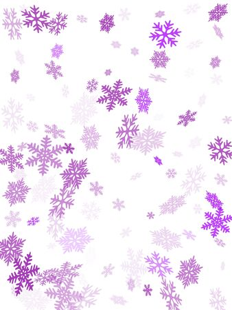 Snow flakes falling macro vector illustration, christmas snowflakes confetti falling scatter backdrop. Winter snow shapes decor. Motion flakes falling and flying winter trendy vector background