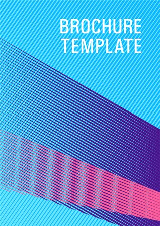 Brochure cover page layout halftone vector design. Future dynamic cover geometry. Party invitation flyer cool background. Advanced technological concept. Corporate report mockup. Ilustracja