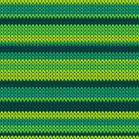 Chunky horizontal stripes christmas knit geometric vector seamless. Scarf knitting pattern imitation. Norwegian style seamless knitted pattern. Winter holidays wallpaper. Ilustrace