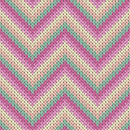 Woven zigzag chevron stripes christmas knit geometric vector seamless. Plaid stockinet ornament. Classic warm seamless knitted pattern. Abstract xmas wallpaper.