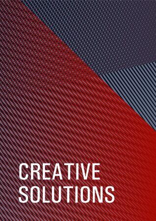 Halftone lines placard background graphic design. Banner backdrop simple print idea. Flat style booklet concept. Scientific journal concept. Marketing brochure cover design. Banque d'images - 138252263