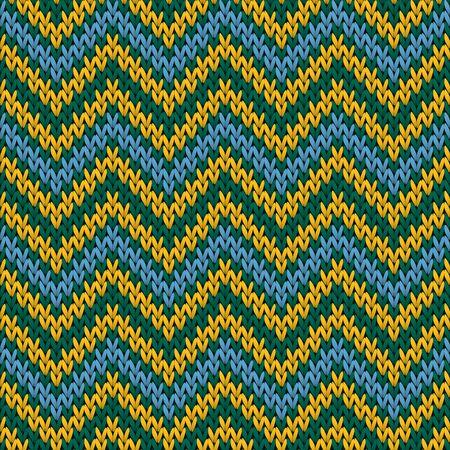 Bright chevron stripes knitting texture geometric vector seamless. Ugly sweater knitting pattern imitation. Fashionable seamless knitted pattern. Christmas spirit backdrop.