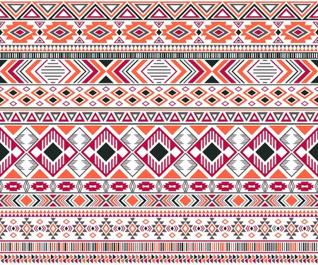 Rhombus and triangle symbols tribal ethnic motifs geometric seamless background. Impressive gypsy tribal motifs clothing fabric textile print traditional design with triangles