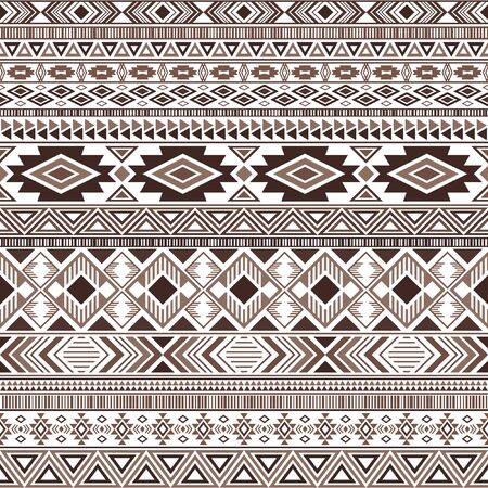 Mayan american indian pattern tribal ethnic motifs geometric vector background. Chic native american tribal motifs clothing fabric ethnic traditional design. Mayan clothes pattern design.